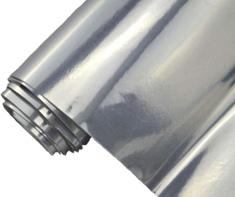 7 M Auto Folie Chrom Spiegel Folie Silber 50 X 152 Cm Klebefolie Selbstklebend Flexibel Car Wrapping Auto