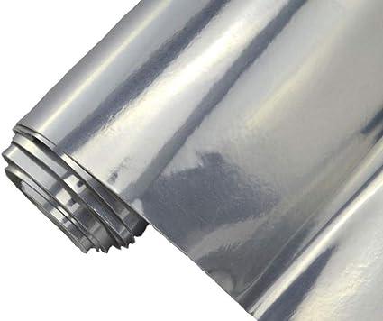 Neoxxim 24 22 M2 Premium Auto Folie Chrom Silber Glanz GlÄnzend 30 X 150 Cm Blasenfrei Mit Luftkanälen Ca 0 15mm Dick Küche Haushalt
