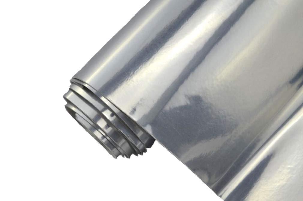 selbstklebend BLASENFREI flexibel Car Wrapping Klebefolie folieren 8,70/€//m/² Auto Folie Chrom silber
