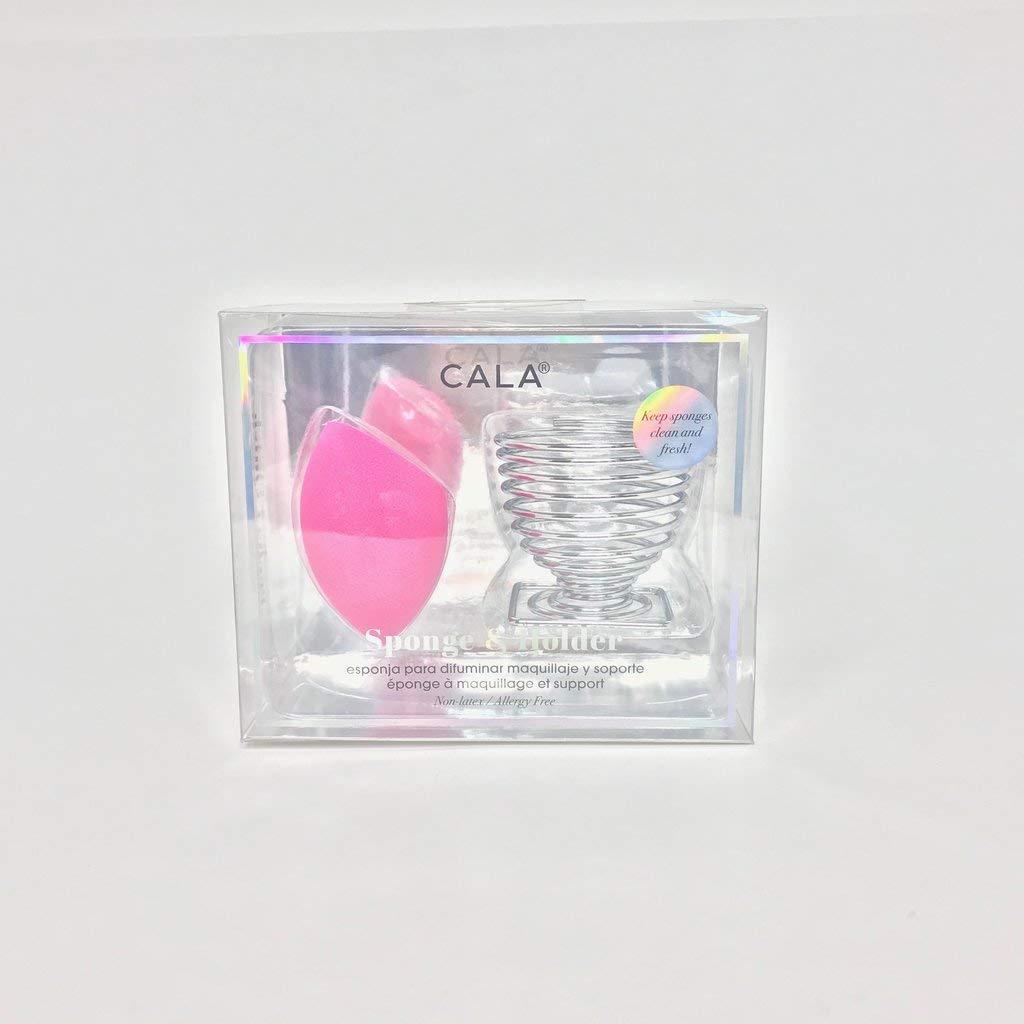 Cala Hot pink slant sponge & holder
