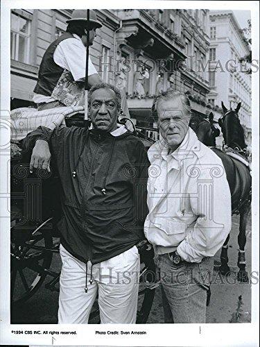1993 Press Photo Bill Cosby and Robert Culp in CBS-TV
