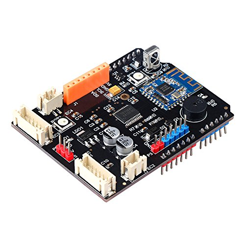 Price comparison product image Emakefun TB6612FNG Motor Driver Shield Board With Bluetooth 4.0,  MPU6050 Interface,  Encoder Deceleration PWM DC Servo, Motor Interfaces, For Arduino UNO R3 Starter Robotic Car kit Smart Car Balance Car
