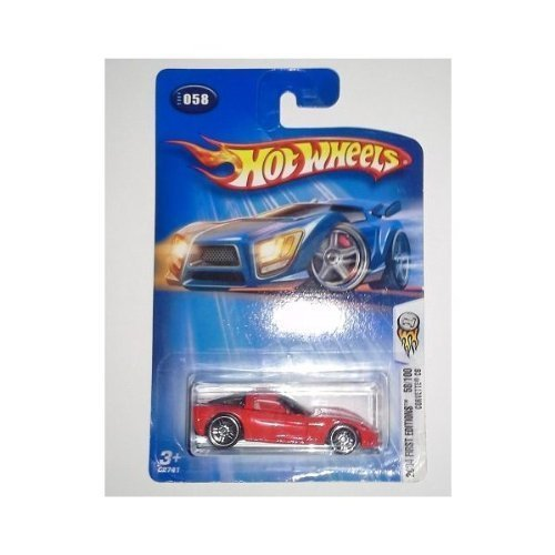 Hot Wheels 2004 First Editions Corvette C6 58/100 RED 058 1:64 Scale