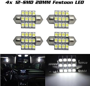 20X 27//28MM 5050 Festoon Led White Dome Map Interior Light Bulb DE3021 3022 3528