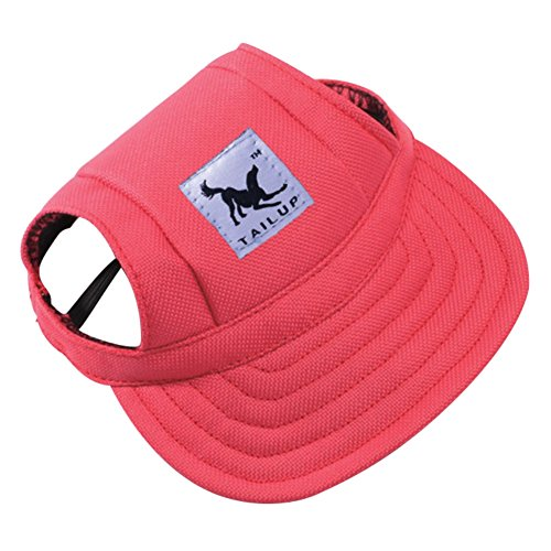 Yinrunx Breathable Pets Sun Hat Dog Sports Baseball Cap Visor Hat with Ear Holes Mesh Porous for Small Dog Dog Ear Cap