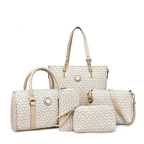 Aoligei Cinco Pedazos del Hueso del Grano Madre Pack Moda Tendencia Bolso Mujer Solo Hombro Diagonal Cruzada Pack A