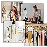 Female Mannequin Torso Dress Form Manikin Body with Wooden Tripod Base Stand Adjustable 60-67 Inch for Sewing Dressmakers Dress Jewelry Display,White