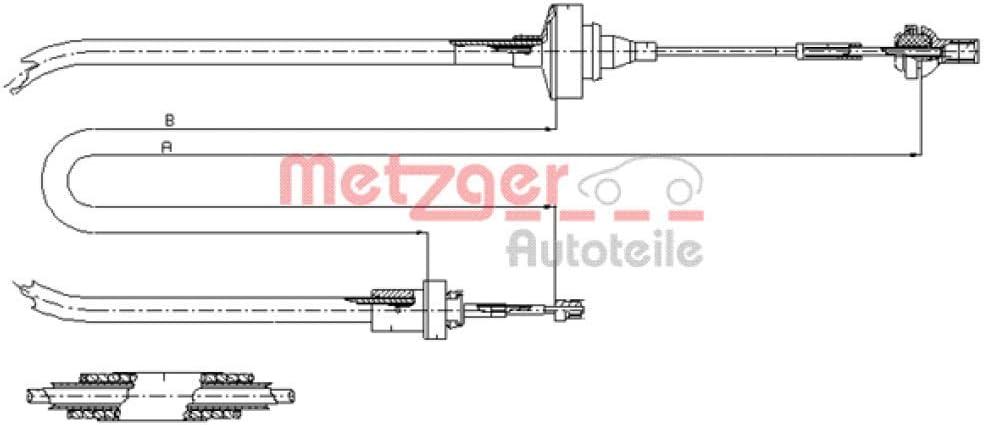 Metzger 11.2871 Tirette /à c/âble commande dembrayage