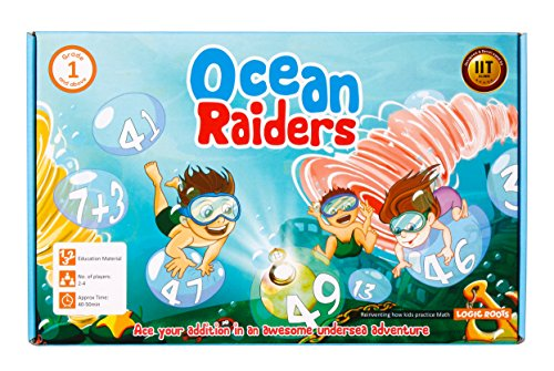 OCEAN RAIDERS math game – STEM toy to learn addition and number sequencing – Gift for boys and girls age 4 and up – Just know upward counting to (Worksheets Halloween For Kids)