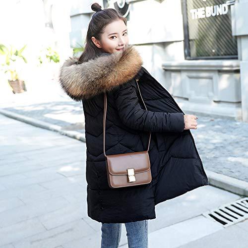 Hiver Femmes Zippé Coat Noir Slim Capuche Doudoune Coton Épais Fausse Femme À Manteau En Parka Pour Vestes Chaud Collier Fourrée Susenstone Chaude xqH8wUAH