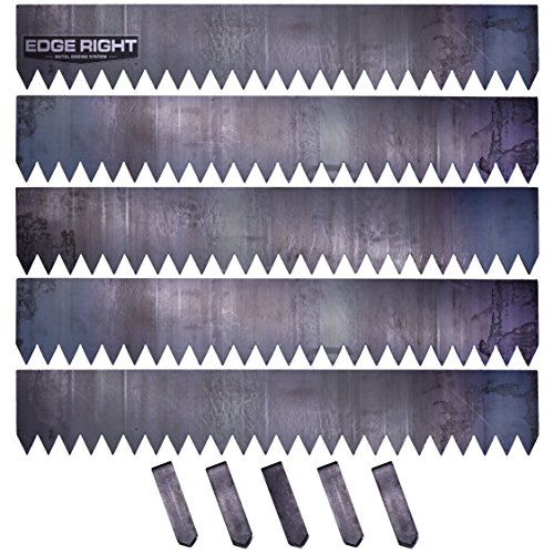 Aluminum Landscape Edging - Edge Right - Hammer-in Landscape Edging - 8 inch Depth - 14-Gauge Cor-Ten Steel (20 feet Total)