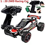 DICPOLIA 1:20 2.4GHZ 2WD Radio Remote Control Off Road RC RTR Racing Car Truck,Car Toys for Kids Toddlers Baby Boys Girls Adults Seat Model Toys Steering Wheel Car Toy Track (Red)