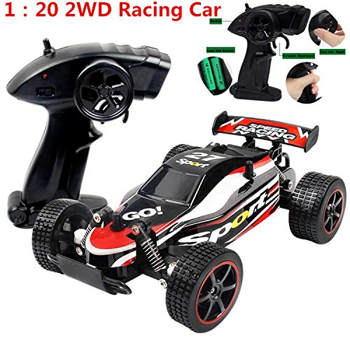 DICPOLIA 1:20 2.4GHZ 2WD Radio Remote Control Off Road RC RTR Racing Car Truck,Car Toys for Kids Toddlers Baby Boys Girls Adults Seat Model Toys Steering Wheel Car Toy Track (Red) by DICPOLIA