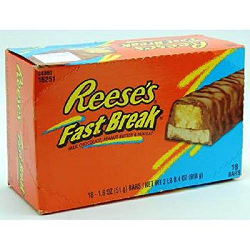 Product Of Reeses, Fastbreak Peanut Butter Bars, Count 18 (1.8 oz) - Chocolate Candy / Grab Varieties & Flavors