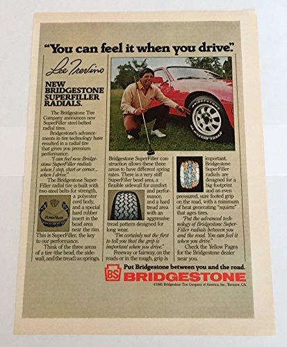 1981 Lee Trevino Bridgestone Tires Magazine Print Advertisement