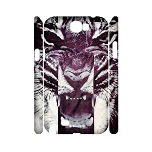 Tiger Roar Cross 3D-Printed ZLB515266 Customized 3D Phone Case for Samsung Galaxy Note 2 N7100