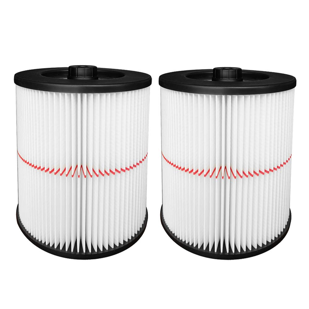 2 Pack Cartridge Filter for Shop Vac Craftsman 17816 9-17816 Wet/Dry Air Filter Replacement Part fit 5 Gallon & Larger Vacuum Cleaner by Reinlichkeit