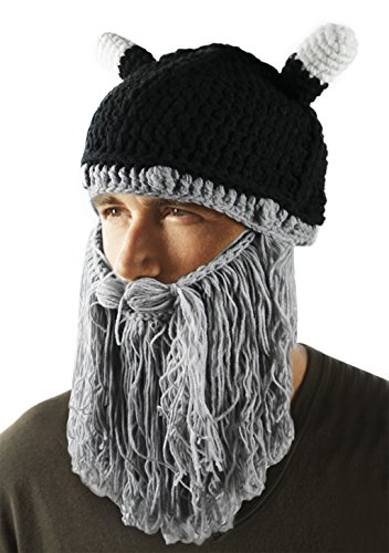 [Warm Knitted Beanie Hat Cap Halloween Hat Facial Hair Mask Costume] (Beard Long Hair Costume Ideas)