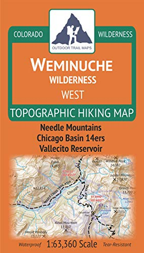 Weminuche Wilderness WEST - Colorado Topographic Hiking Map (2019)