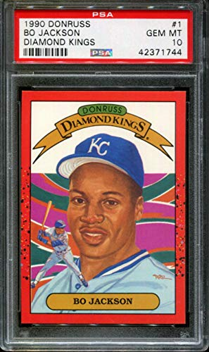 1990 DONRUSS DIAMOND KINGS #1 BO JACKSON ROYALS PSA 10 - 1990 Diamond Donruss