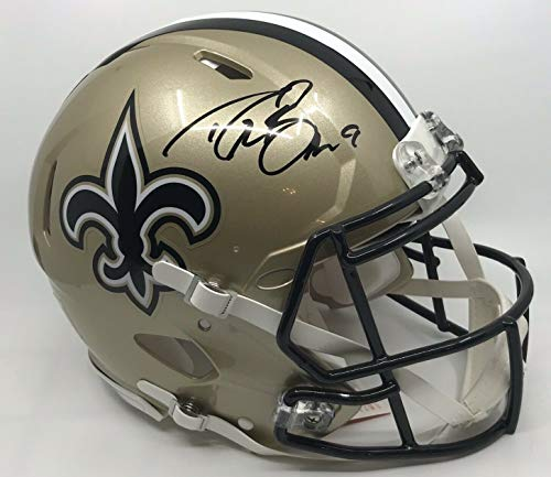 Drew Brees New Orleans Saints Signed Autograph Authentic On Field Speed Proline Full Size Helmet JSA Witnessed Certified