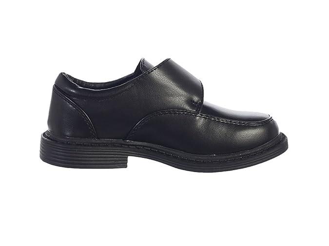 Amazon.com: Niños zapatos de vestir mate w/correa de Velcro ...