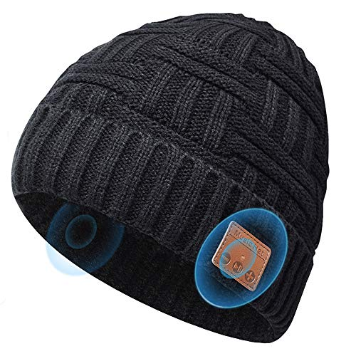 Bluetooth Beanie Hats Gifts For Men Women, Music Hats Beanie With Headphones Wireless Bluetooth Winter Hats, Stocking…