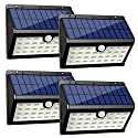 InnoGear Upgraded Solar Lights 30 LED Wall Light Outdoor Security Lighting Nightlight with Motion Sensor Detector for Garden Back Door Step Stair Fence Deck Yard Driveway, Pack of 4