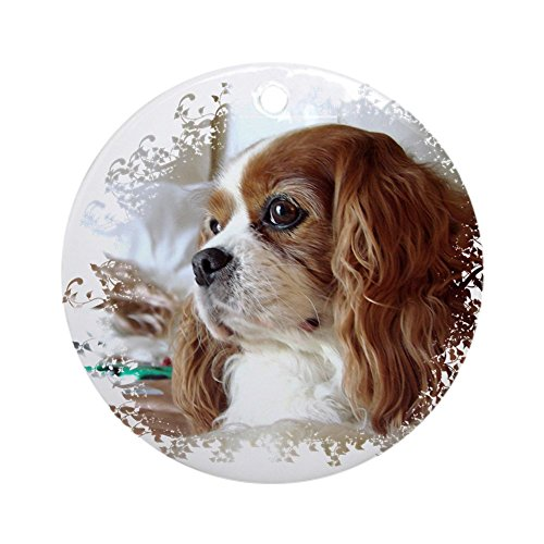 (CafePress Cavalier King Charles Spaniel Ornament (Round) Round Holiday Christmas Ornament)