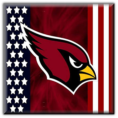 Sport Arizona Cardinals NFL Flag Car Bumper Sticker Decal 5'' X 5''