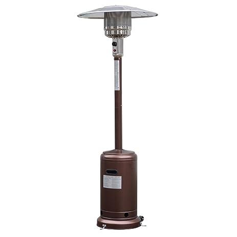 Giantex Steel Outdoor Patio Heater Propane Lp Gas W/accessories (Bronze)