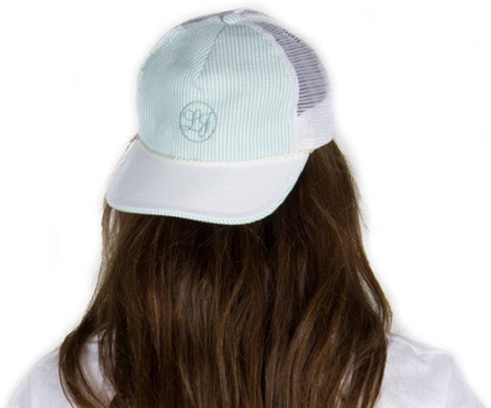 Lauren James Seersucker Snapback Hat in Mint