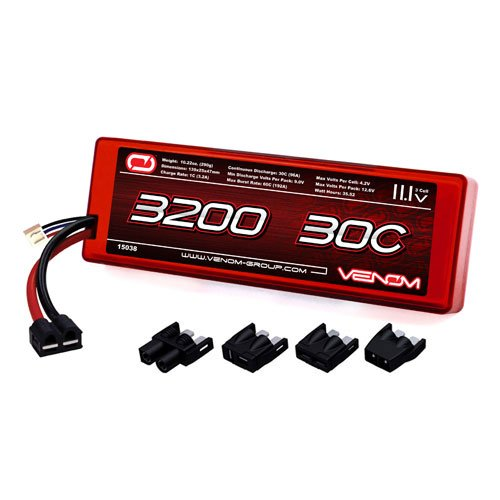 Venom 30C 3S 3200mAh 11.1V Hard Case LiPo Battery ROAR Approved with Universal Plug (EC3/Deans/Traxxas/Tamiya)