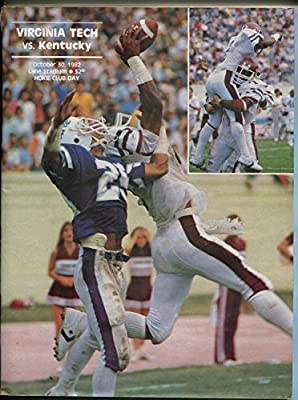 VIRGINIA TECH VS KENTUCKY NCAA FOOTBALL PROGRAM 10/30/1982-LANE STADIUM-nm