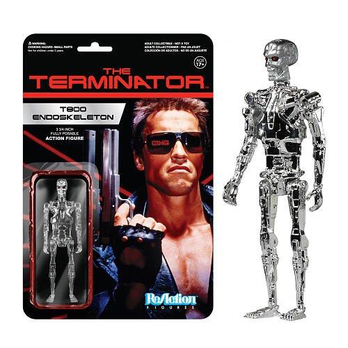 Terminator ReAction Figure: Chrome T800 Endoskeleton