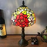 RXY-LAMP Rose Glass Tiffany Bedroom Decoration Lighting European Retro Lamps