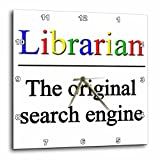 Cheap 3dRose dpp_202958_3 Librarian the Original Search Engine Wall Clock, 15 by 15″