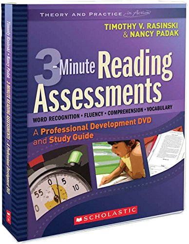 Scholastic 9780545009157 3-Minute Reading Assessments Professional Development DVD and Study Guide, 1.8'' Height, 10.41'' Width, 14'' Length