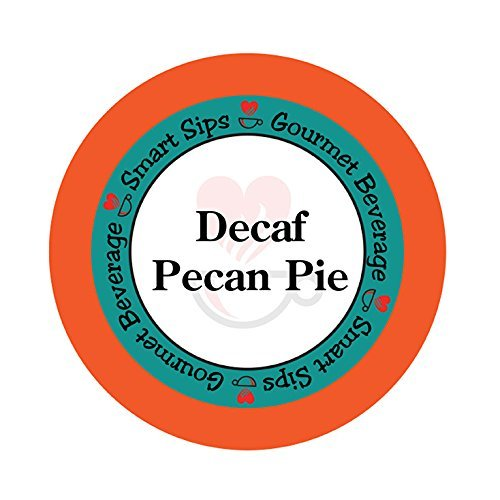 Smart Sips, Decaf Pecan Pie Flavored Coffee, 24 Count, for All Keurig K-cup Machines, Decaffeinated Flavored Coffee