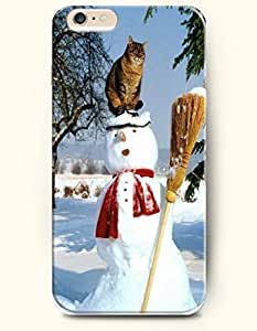 SevenArc Apple iPhone 6 Plus case 5.5 inches - Snowman Butler And Cat