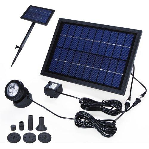 40 opinioni per Anself Fontana decorativa energia solare pompa acqua con 6 LED Spotlight per