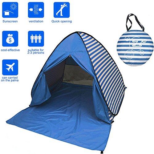 FLYTON Pop Up Beach Tent Shade Sun Shelter UV Protection Canopy Cabana 2-3...