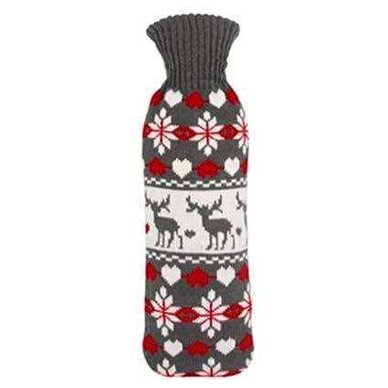 1L botella de agua caliente bolsa de agua lineal bolsillo ...