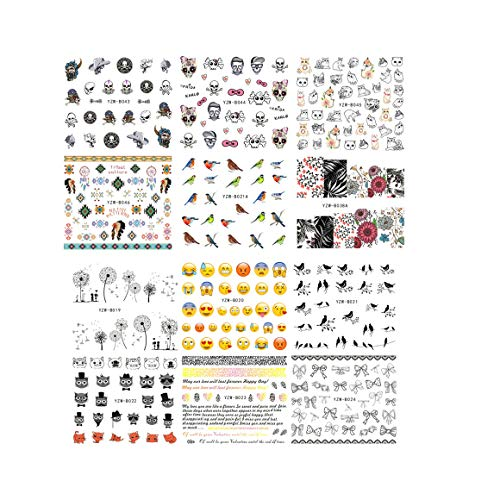 SIUSIO 48PCS Nail Decals Assortment Halloween Nail Stickers Manicure Nail Art Decals Decoration for $<!--$7.29-->