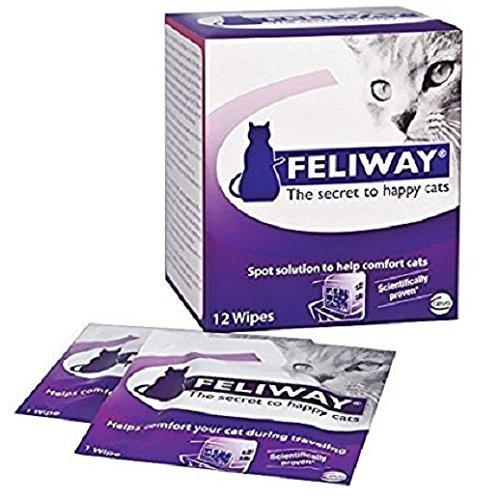 CEVA Animal Health C95660B 12 Count Feliway Wipes, All Sizes