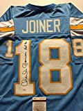 """Autographed/Signed Charlie Joiner """"HOF 96"""" San Diego Chargers Powder Blue Football Jersey JSA COA"""