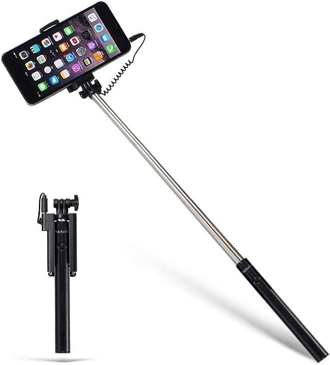 3 en 1 Selfie Stick Tripode Extensible con Inal/ámbrico 360/° Rotaci/ón para Tel/éfono Macllar Palo Selfie Tr/ípode Bluetooth 10M