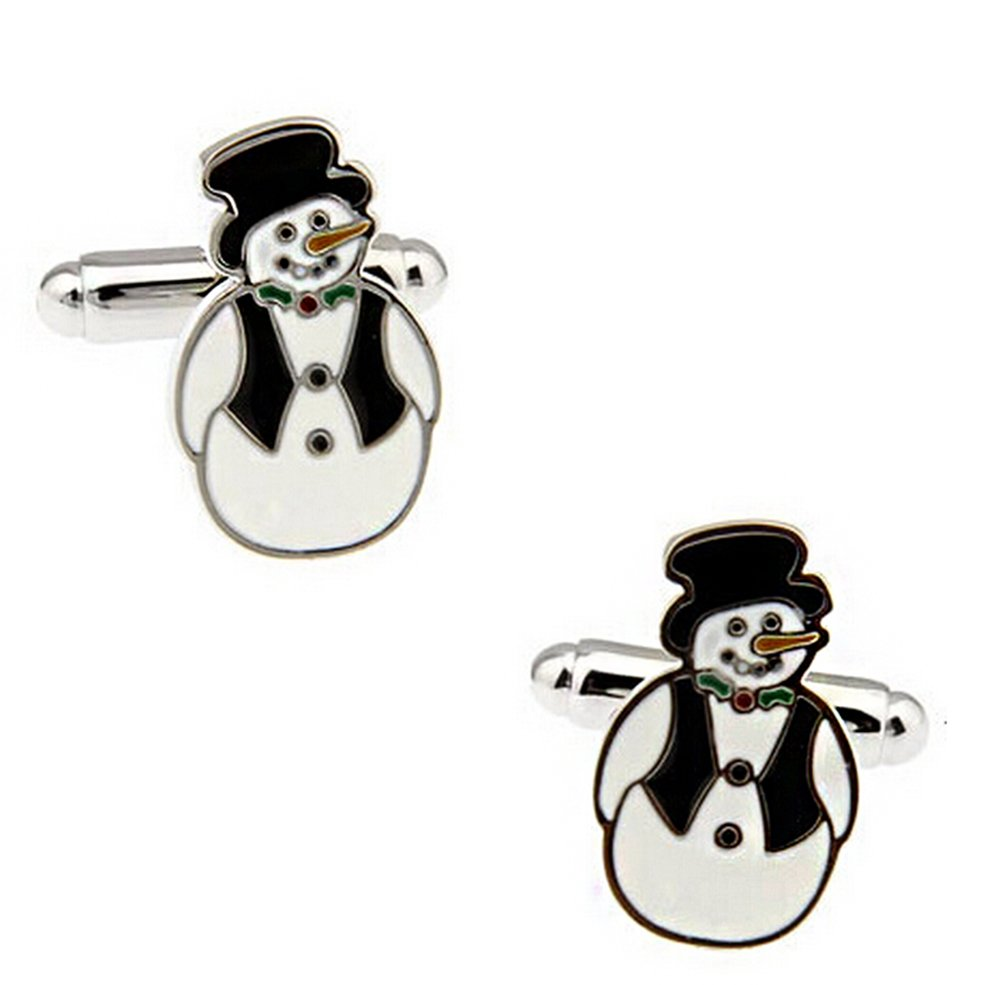 Hosaire Men's Cufflinks Silver Snowman Cuff Link Delicate Cuff-link for Wedding Jewelry