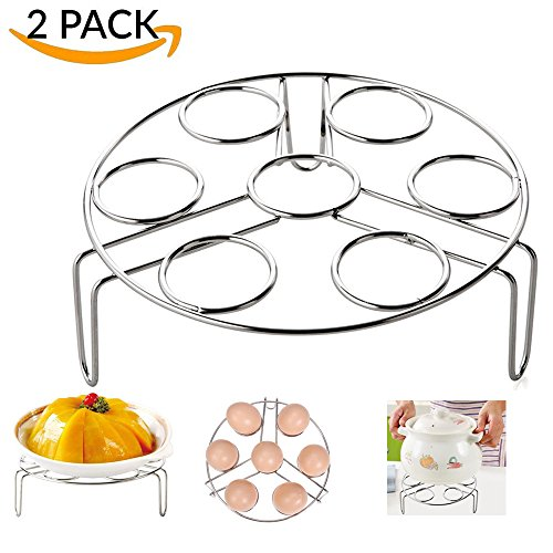 Why Choose 2 Pack Steamer Rack for Instant Pot Accessories Egg Vegetable Steam Rack Stand for Pressu...
