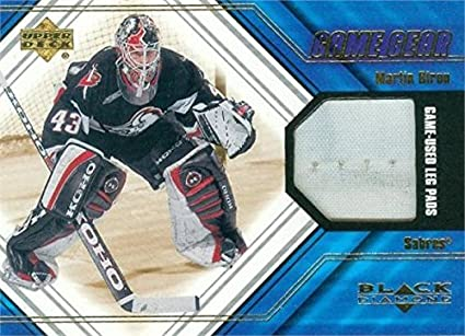 4e51a9f8081 Martin Biron player worn jersey patch hockey card (Buffalo Sabres ...